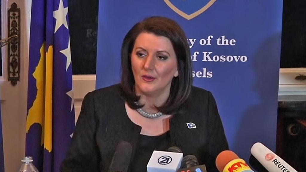 Atifete Jahjagová po bruselské schůzce se srbským prezidentem