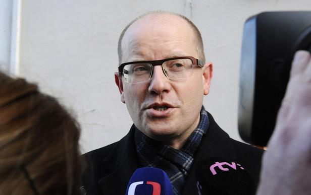 Bohuslav Sobotka na setkání s Milošem Zemanem