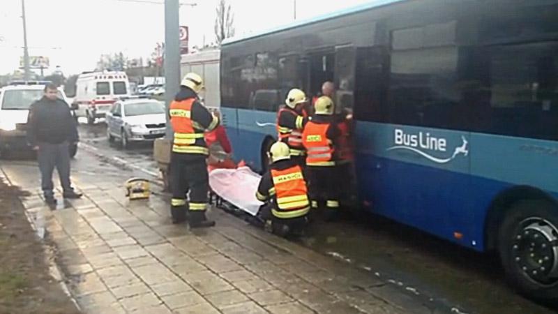 Nehoda autobusů