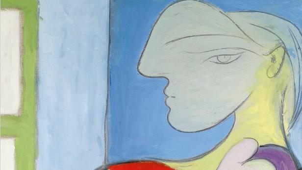 Pablo Picasso / Sedící žena u okna (výřez)