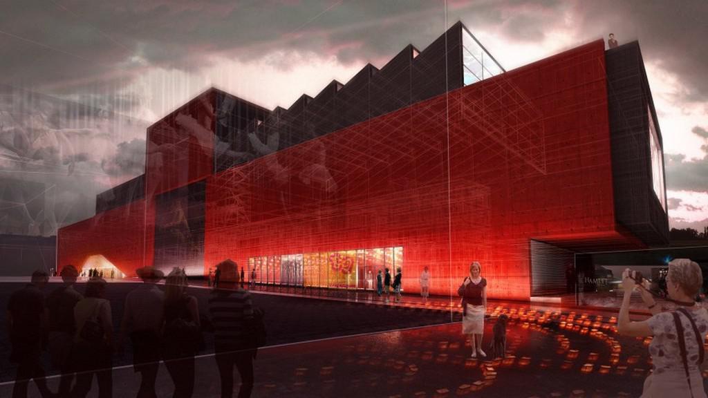 Divadelní komplex v Plzni / vizualizace