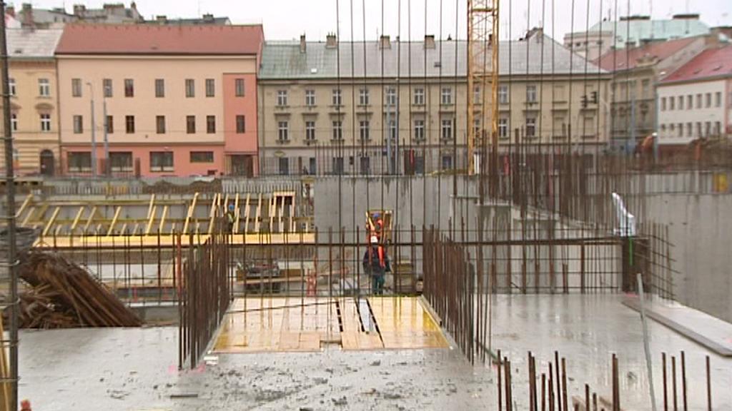 Stavba divadelního komplexu v Plzni