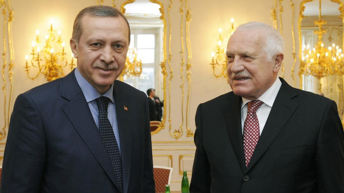 Turecký premiér Erdoğan a prezident Klaus