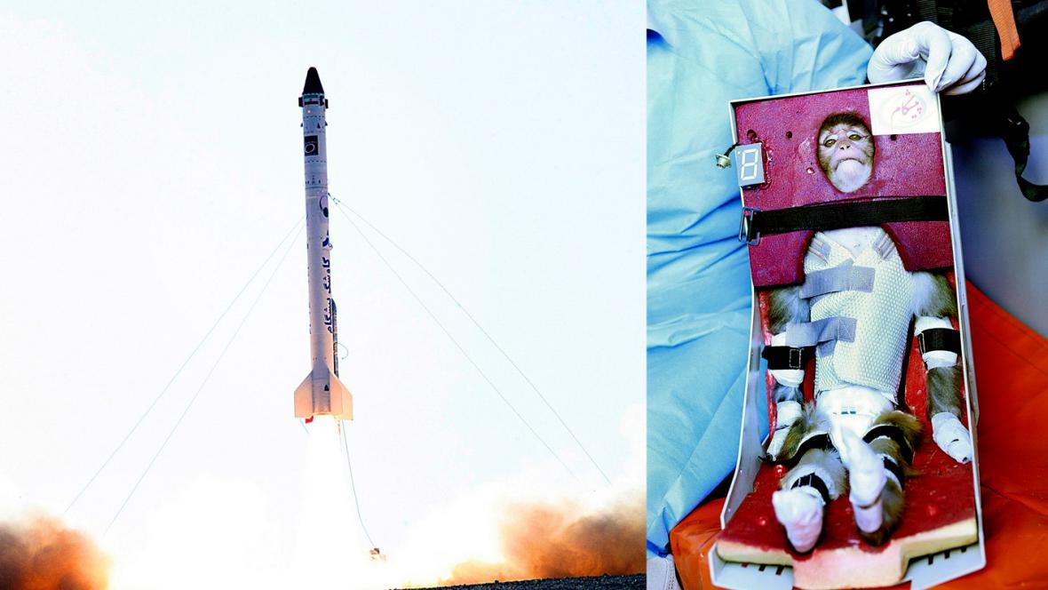 Raketa Pišgam a opice