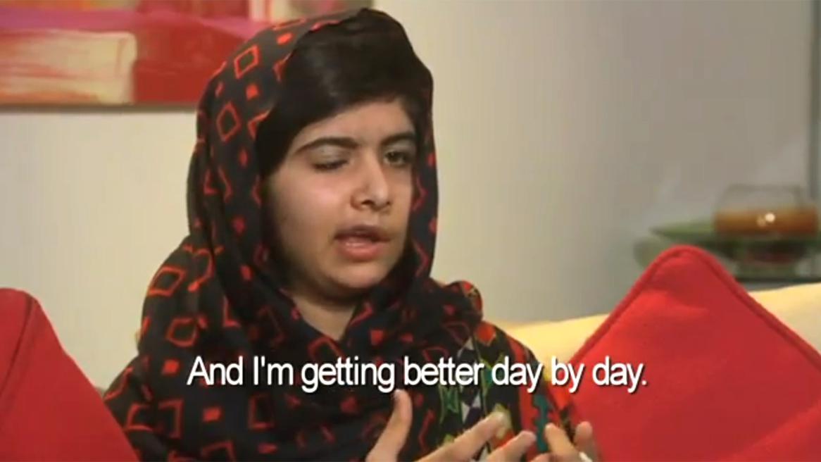 Malala ve vzkazu na YouTube