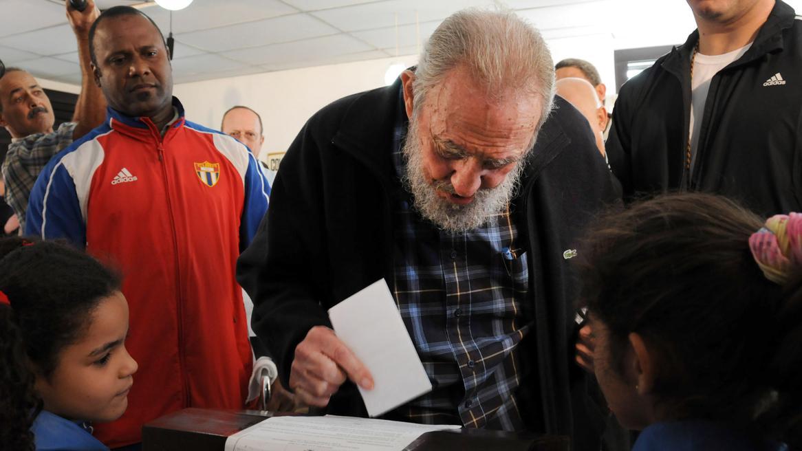 Fidel Castro u volební urny