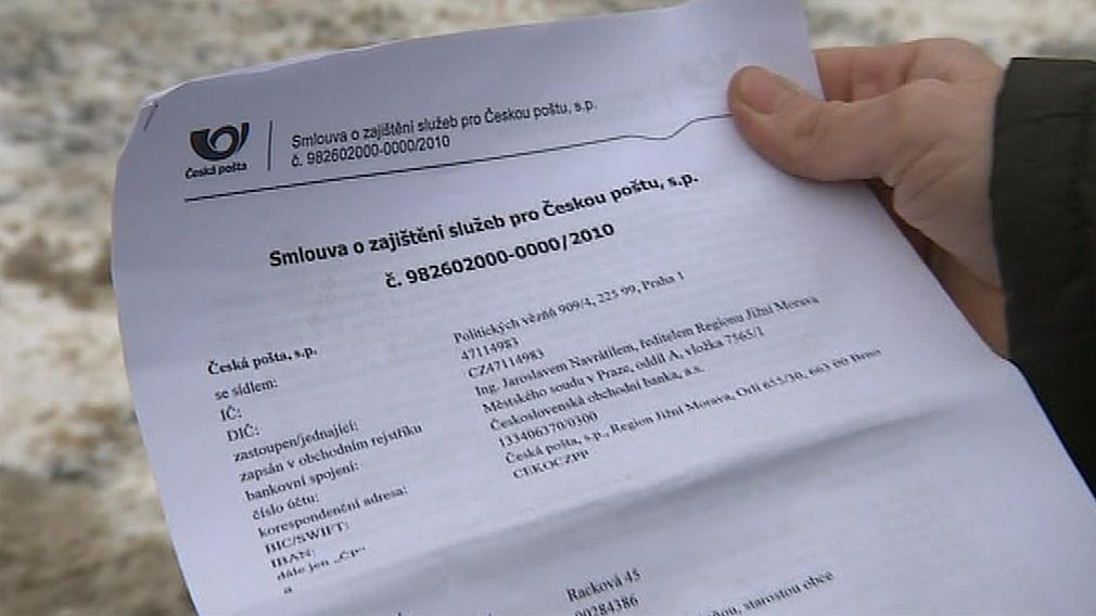 Smlouva, kterou Česká pošta nabízí obcím