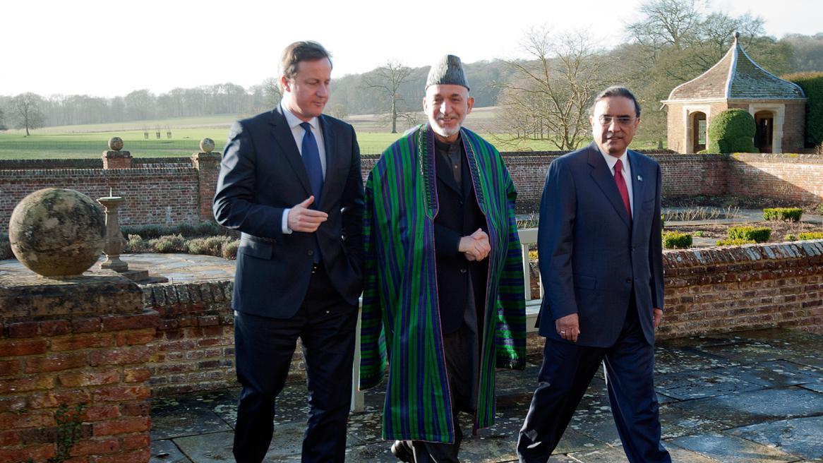 David Cameron, Hamíd Karzáí a Ásif Alí Zardárí
