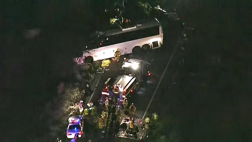 Nehoda autobusu u Los Angeles