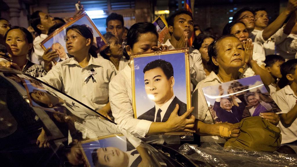 Kambodžané truchlí za krále Sihanuka