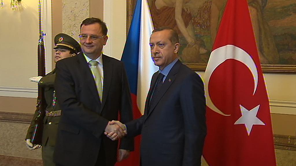 Petr Nečas a Tayyip Erdoğan