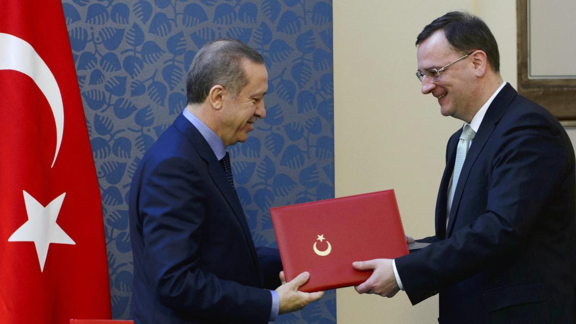 Turecký premiér Erdoğan a Petr Nečas