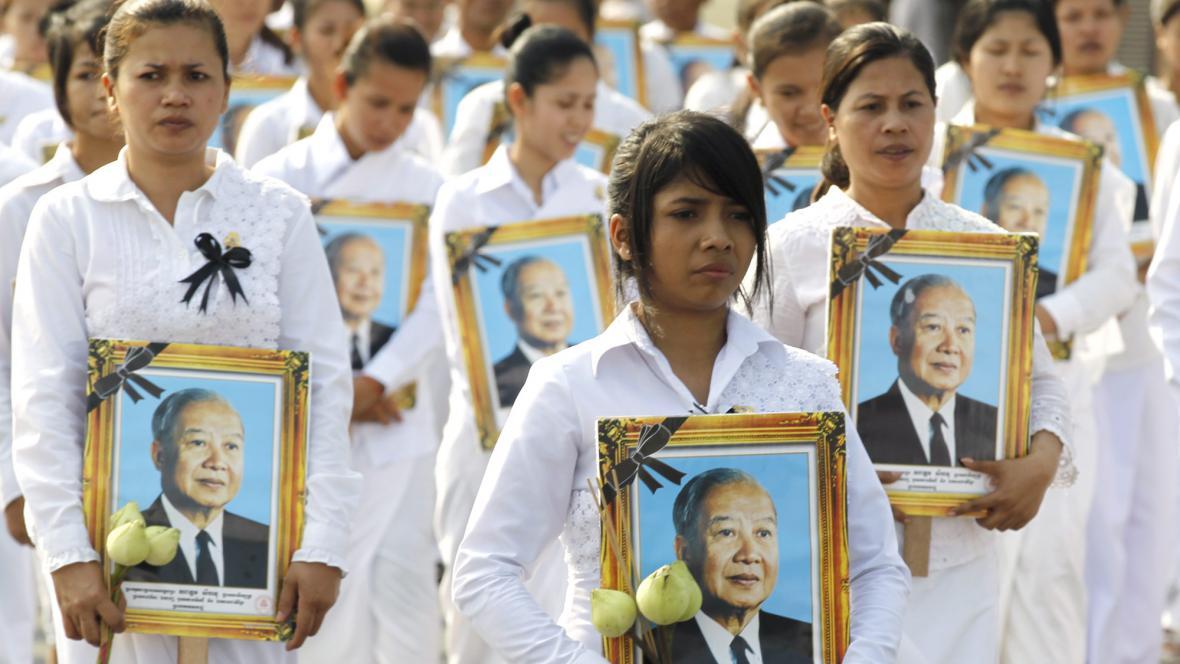 Pohřeb kambodžského krále