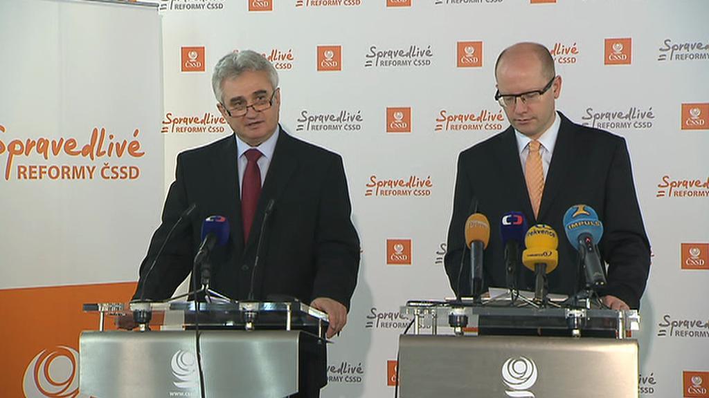 Milan Štěch s Bohuslavem Sobotkou