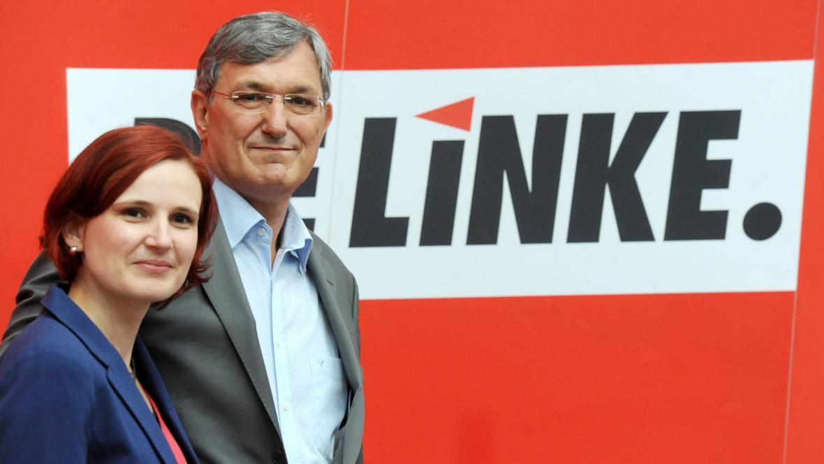 Šéfové německé Levice Katja Kippingová a Bernd Riexinger