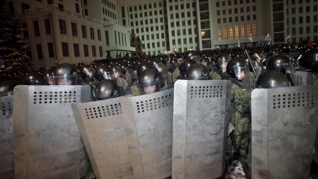 Zásah proti demonstraci po prezidentských volbách, prosinec 2010