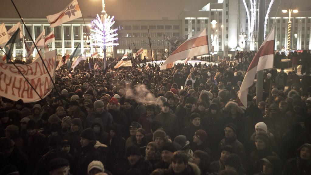 Protestní demonstrace po prezidentských volbách, prosinec 2010