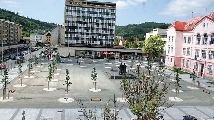 Nová podoba náměstí Svobody ve Vsetíně