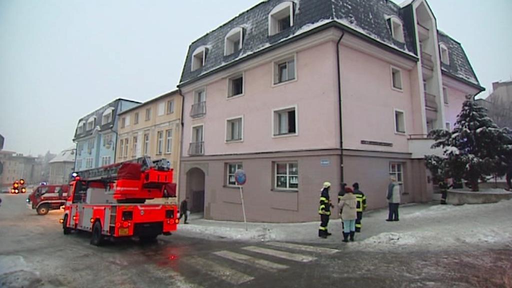 Požár v pečovatelském domě