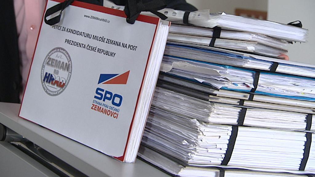 Petice za kandidaturu Miloše Zemana