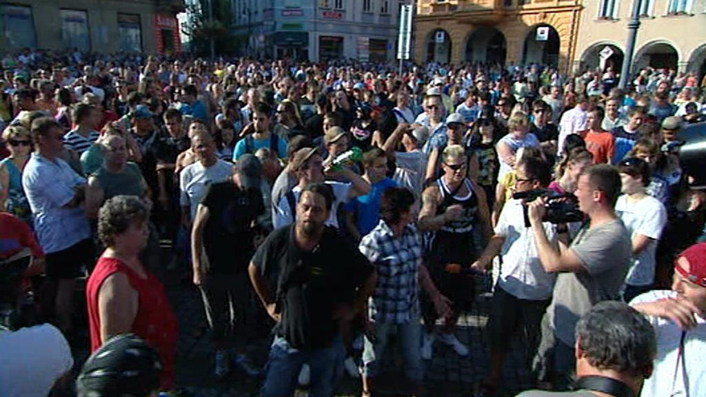 Demonstrace v Rumburku