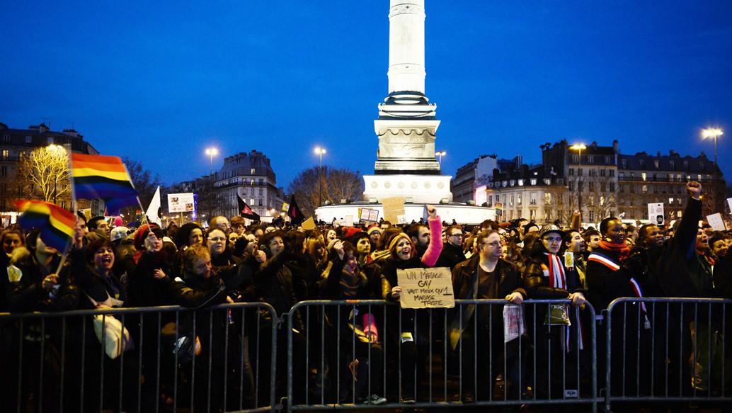 Demonstrace Marriage For All v Paříži