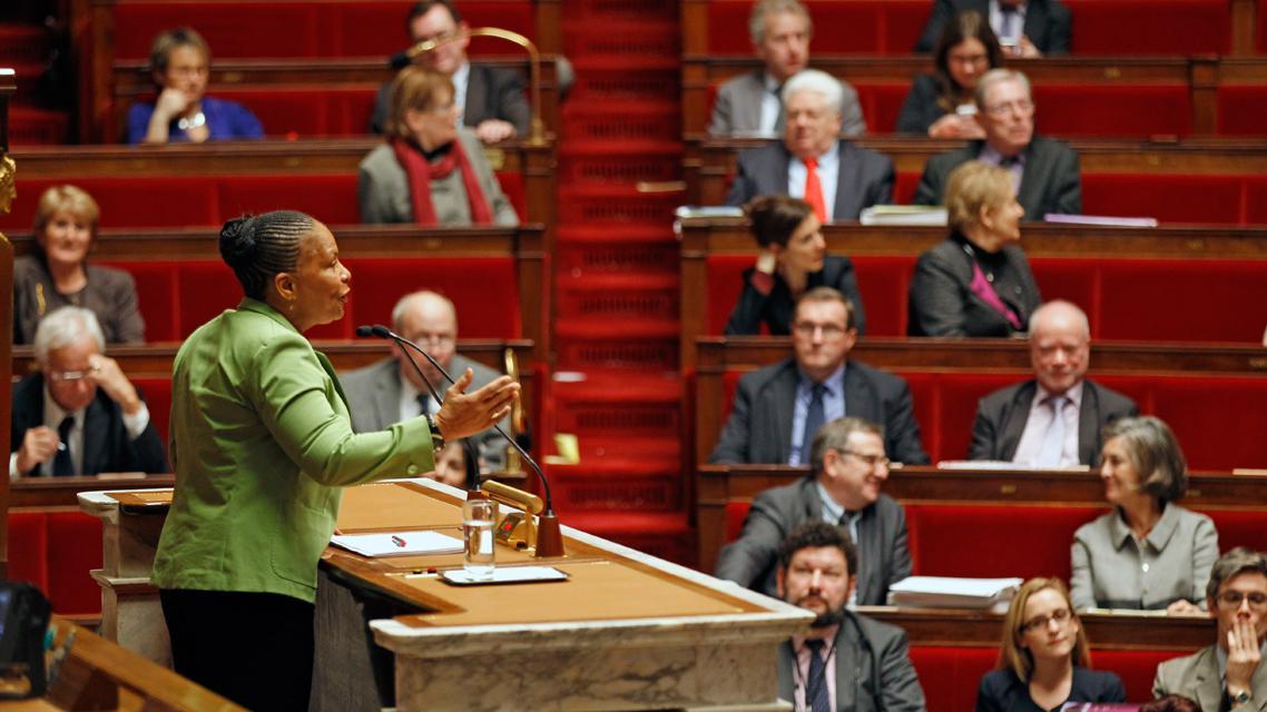 Ministryně spravedlnosti Christiane Taubiraová