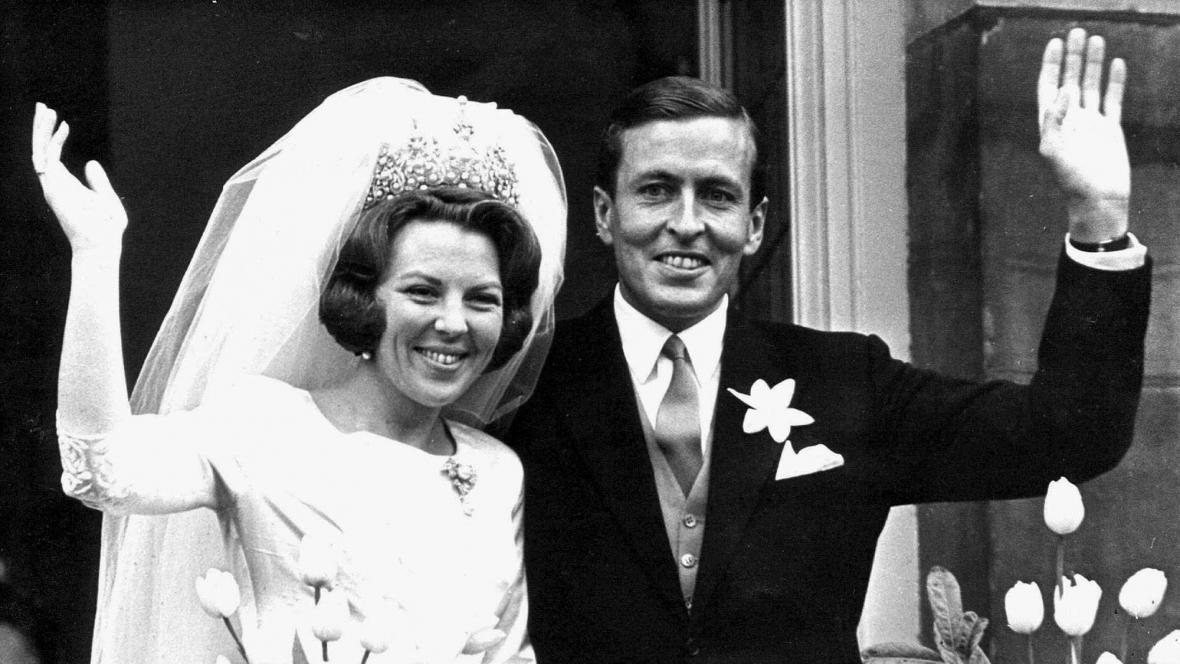 Svatba Beatrix s princem Clausem - rok 1966