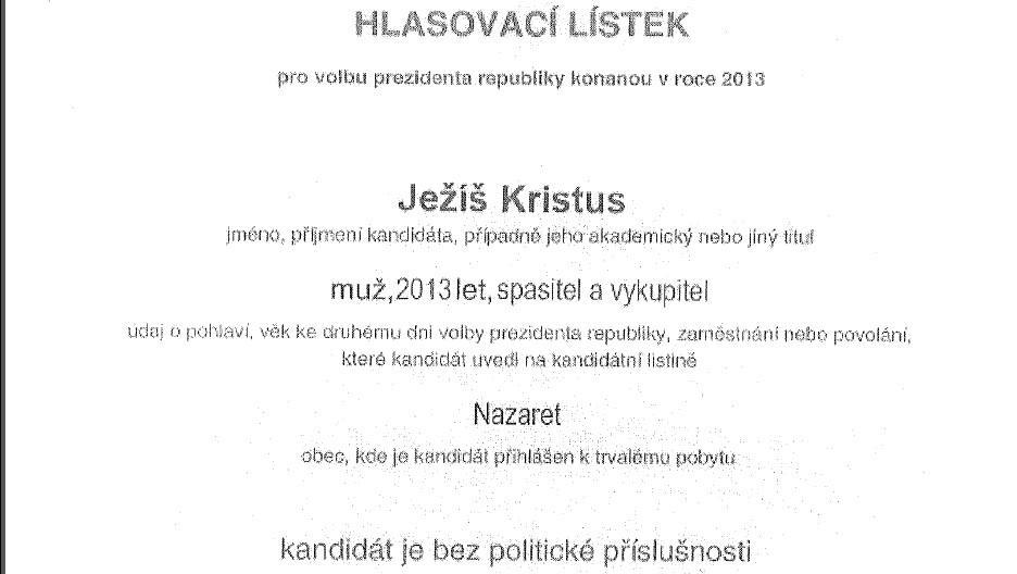 Fiktivní hlasovací lístek