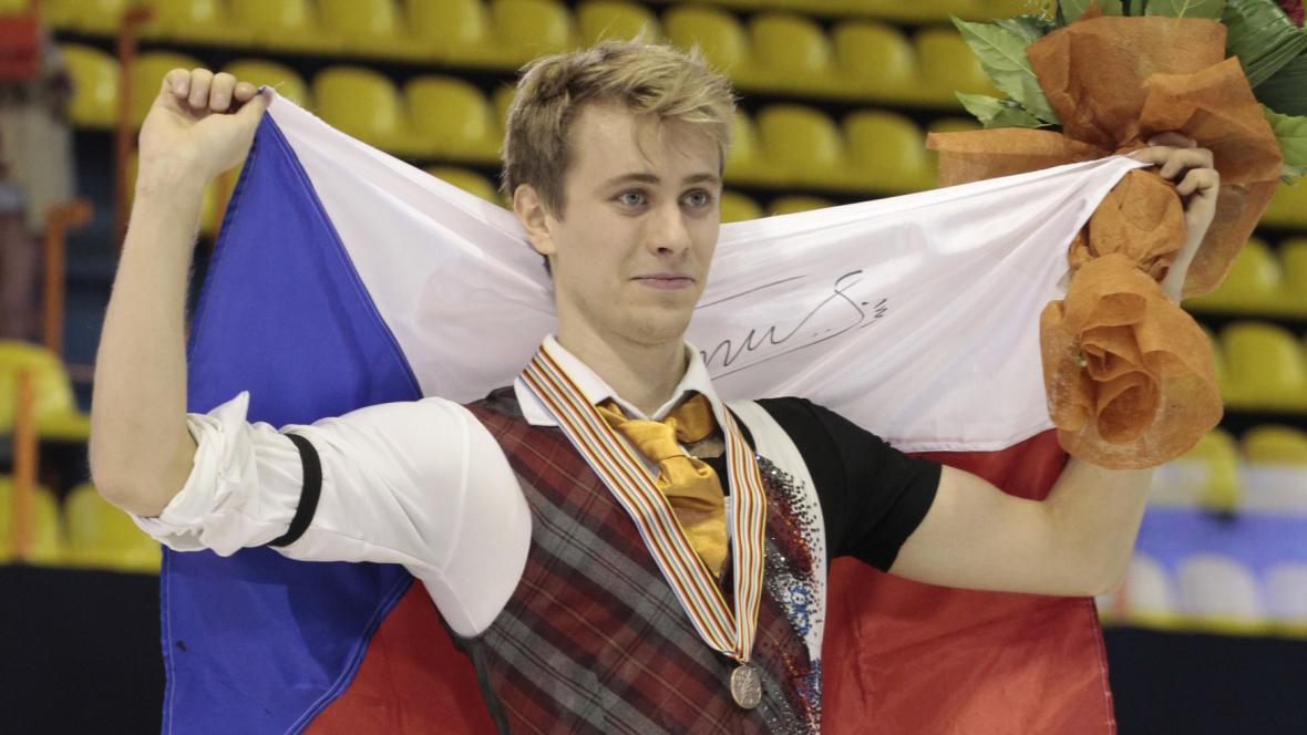 Michal Březina slaví zisk bronzu na ME