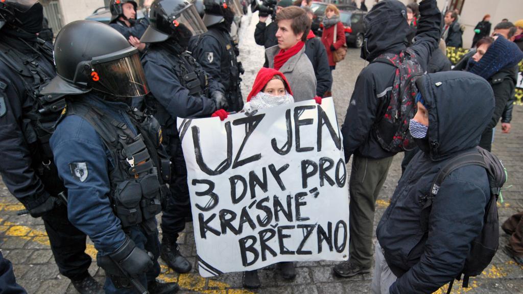 Demonstrace před MPSV