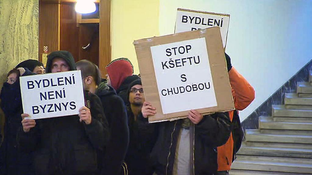 Protestující na MPSV