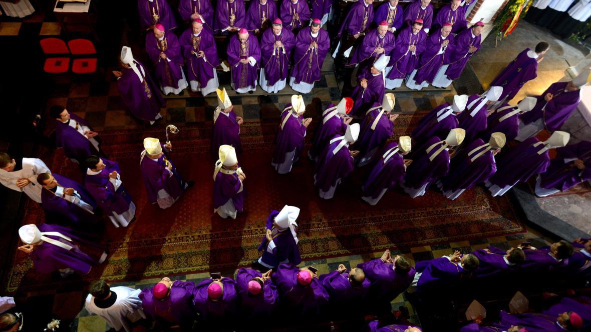 Pohřeb kardinála Glempa
