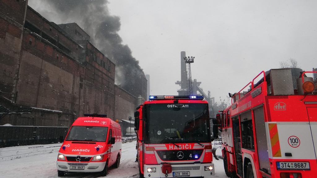 Požár v ArcelorMittal Ostrava