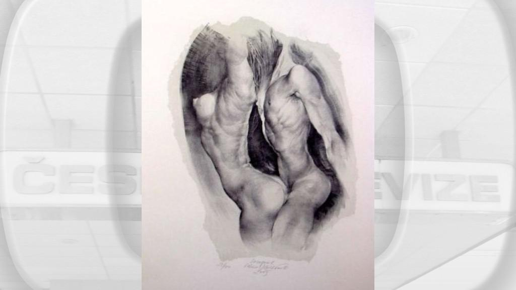 Oldřich Kulhánek / Souzvuk - litografie 2003