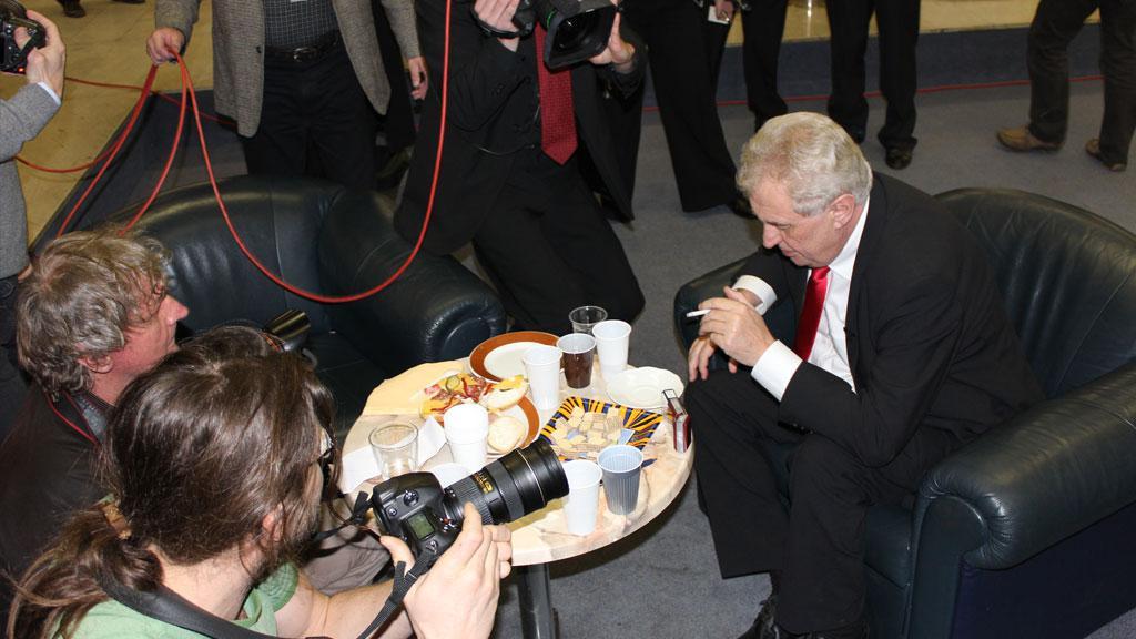 Miloš Zeman v České televizi