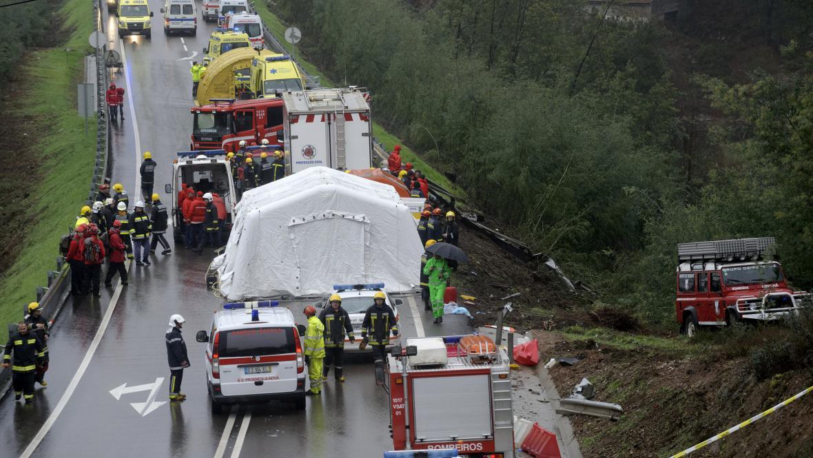 Nehoda v Portugalsku