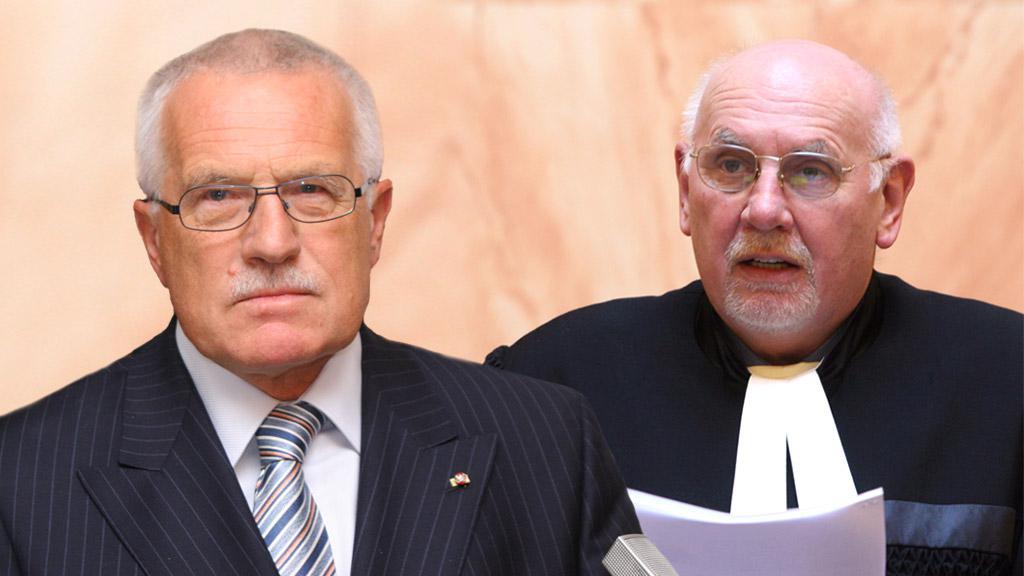 Václav Klaus a Pavel Rychetský