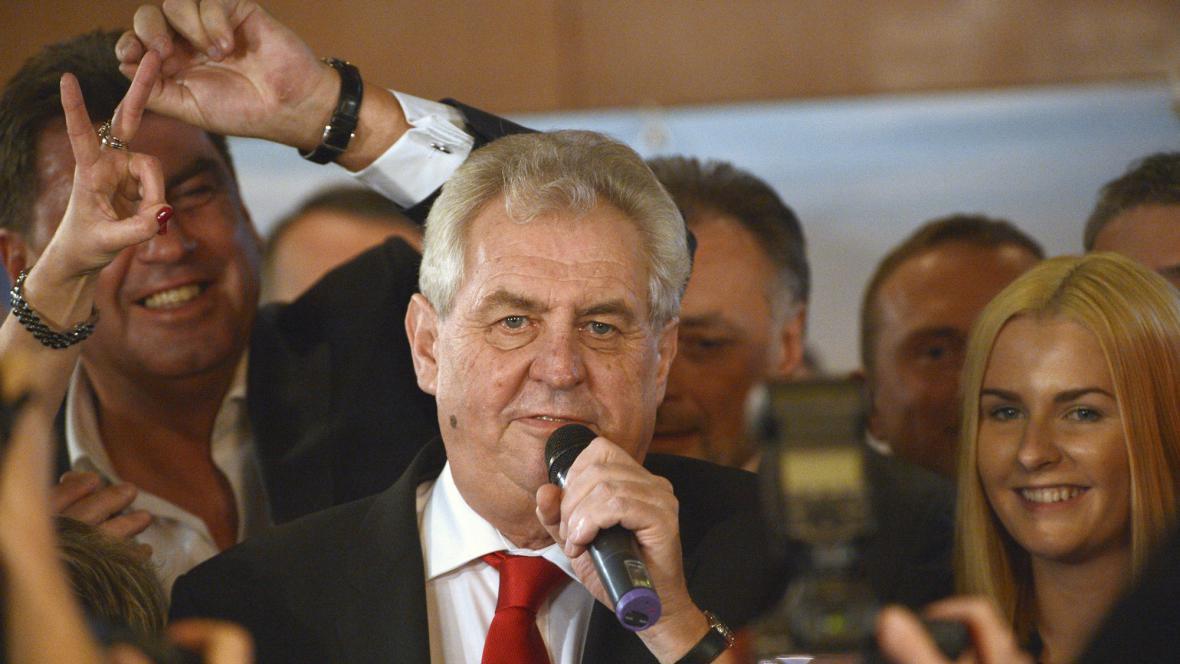 Vítězný projev Miloše Zemana