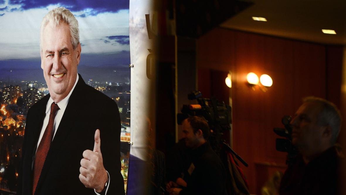 Volební štáb Miloše Zemana v Top Hotelu