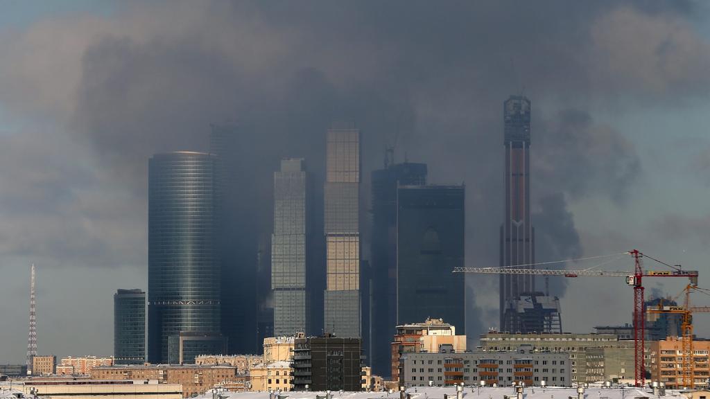 Požár moskevského mrakodrapu