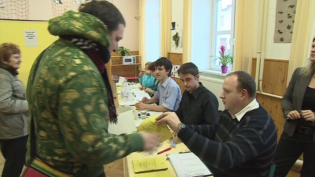Prezidentské volby v Drnovicích na Blanensku