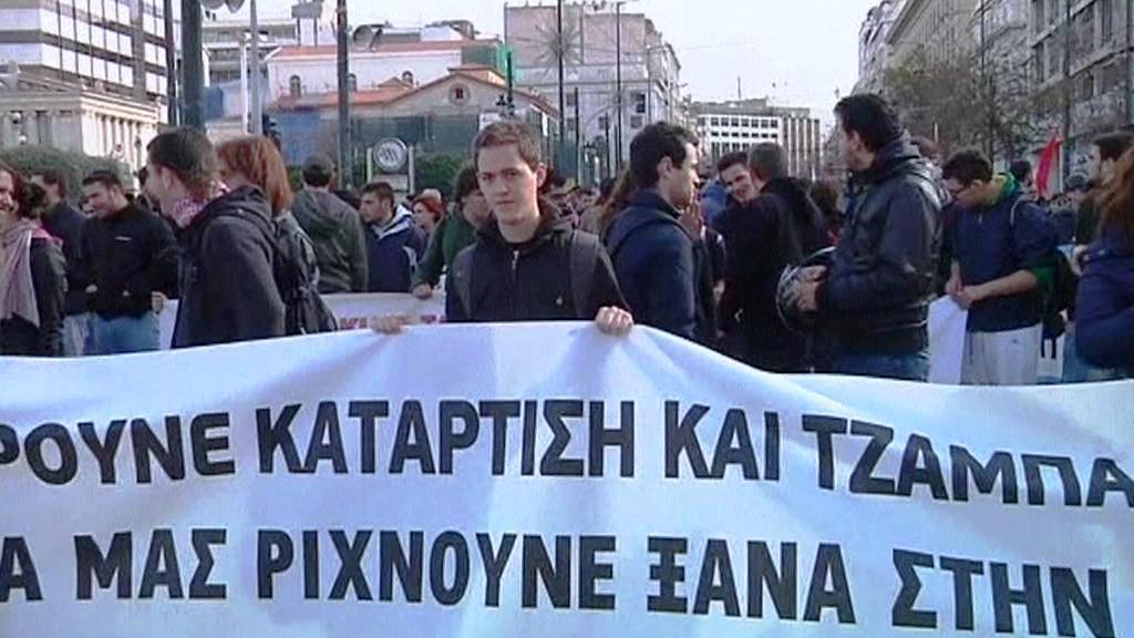 Stávkující v Řecku