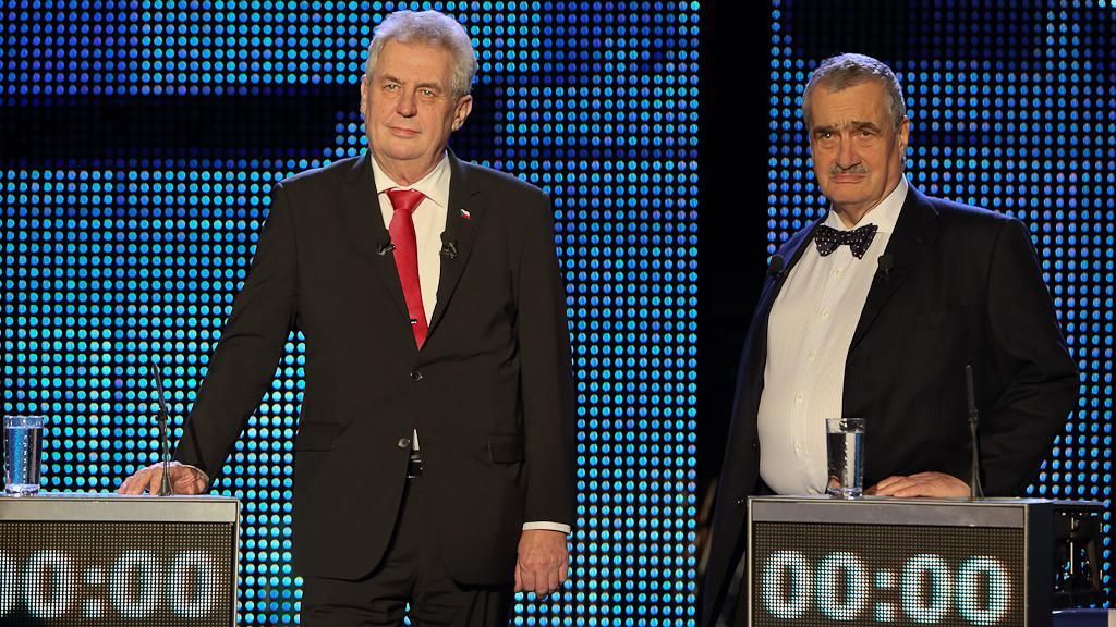 Kandidáti Miloš Zeman a Karel Schwarzenberg