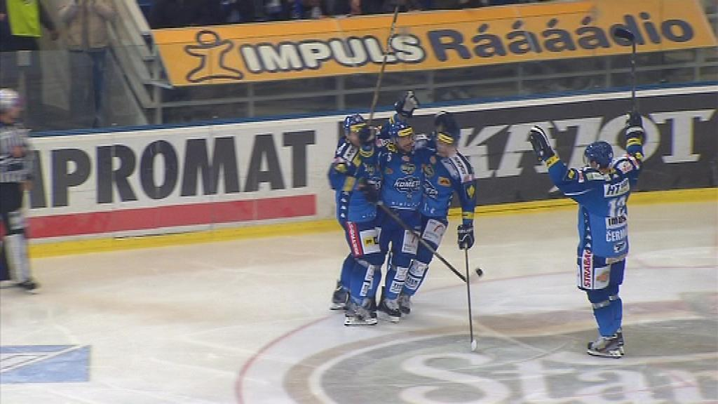 Radost hokejistů Komety