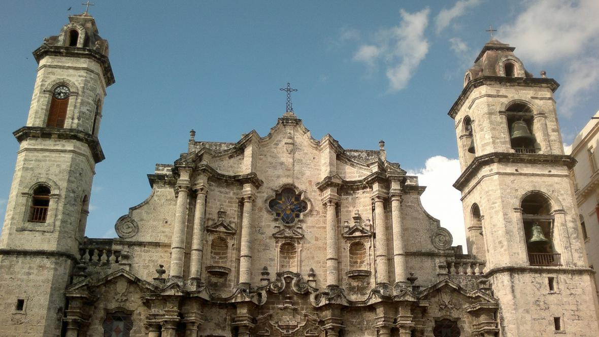 Průčelí havanské katedrály