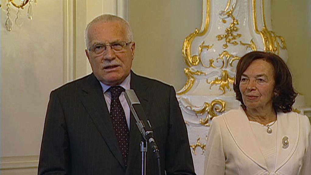 Václav Klaus s manželkou Lívií