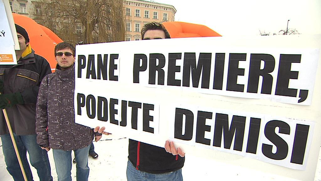 Protest na Klárově