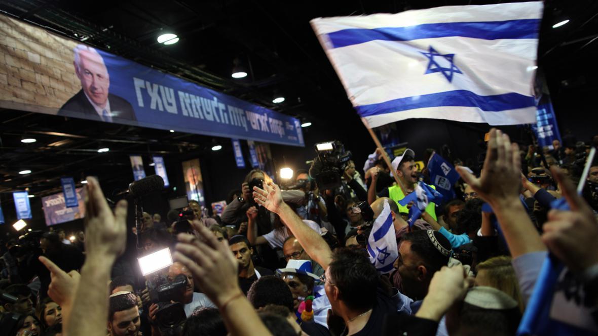 Oslavy volebního vítězství Likudu