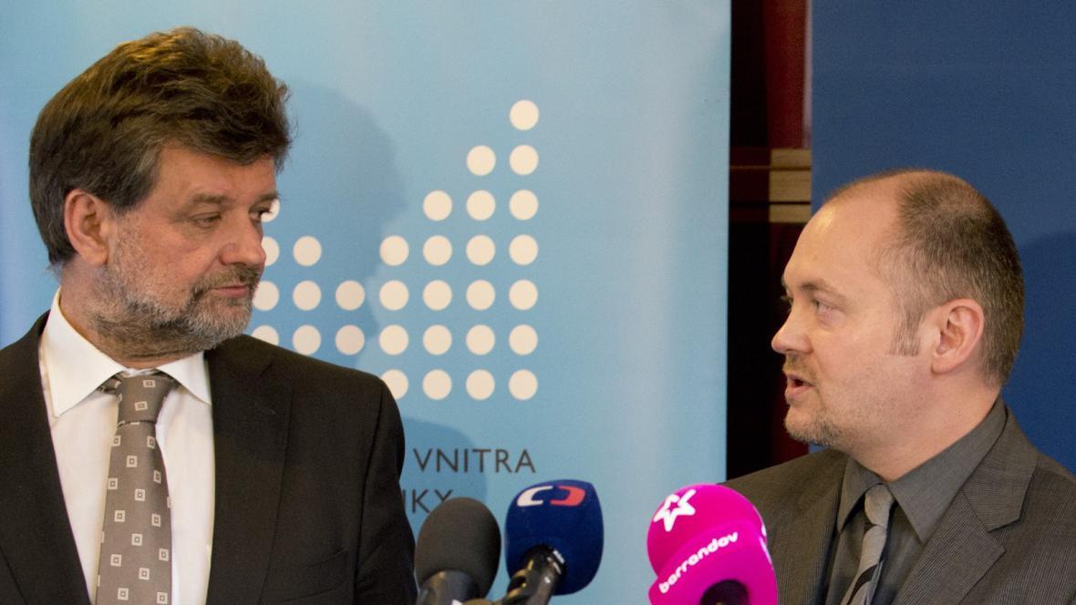 Jan Kubice a Michal Hašek